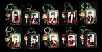 Morning Musume Keychains by sanwookong