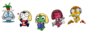 5 frogs by Tete-chin