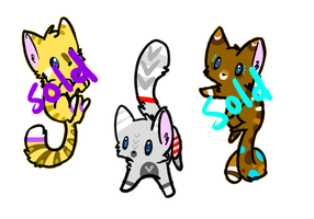 3 Kitty Adopts1 (CLOSED) by F0XXIE