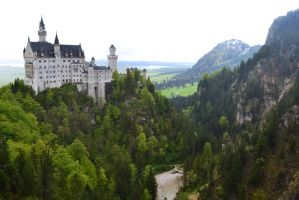STOCK Neuschwanstein Castle by talentedmess