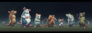 Mice lineup by BMacSmith