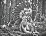 Indian I Black and White by JAMillsPhoto