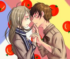 Hetalia Spain and FemNetherlands by jimaji