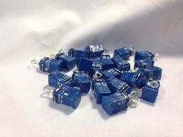 Resin Cast Tardis Charms by omfgitsbutter