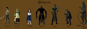 Darkstar Character Lineup by Silvre