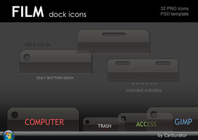 Film dock icons by Carburator