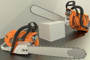 High poly Chainsaw by DennisH2010