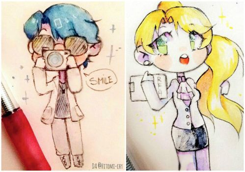 Mystic Messenger ~ V and Rika by Hitomi-chy