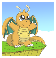 Chibi Dragonite by pichu90