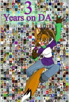3 Years on DA by MidNight-Vixen