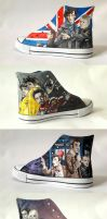 Multi-fandom handmade shoes by Gohush