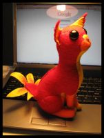 Plushie Phoenix Kitty by skysong