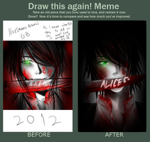 Draw This Again Meme -2012 vs 2013- by Aikobo