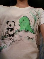 Hand-painted T-shirts 001.3 by MelodicInterval
