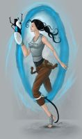 Chell Portal 2 by Cariman