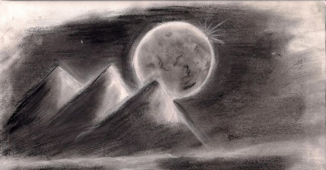 charcoal mountains by Artsly