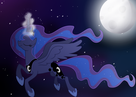 Midnight flight by BeastyxLightning