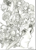 Final Fantasy Protagonist (1-15 EXCLUDING 11, 14) by Z3LUS