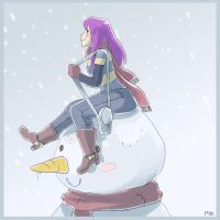 Snowing by Pikila