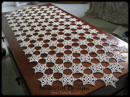 Crochet Star Table Runner by immortaldesigns