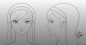 Maya Kumashiro Head Model Sheet by johnnydwicked