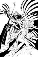 Cloak and Dagger inks by GarryHenderson