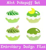 Mint Pokepuff Set [EMBROIDERY FILES] by TheHarley