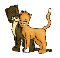 Brambleclaw and Squirrelflight by scr3aam3r