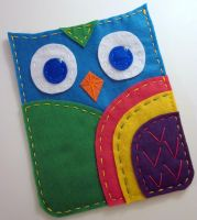 Felt Owl Ipad Sleeve by lovarevolutionary
