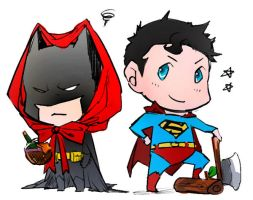 Super Hunter and Red Riding Hood Bats by Haining-art