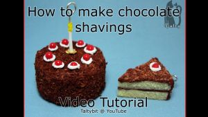 How to Make Polymer Clay Chocolate Shavings Video by Talty