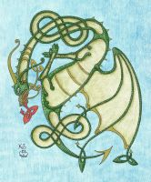 Celtic Dragon by Scellanis