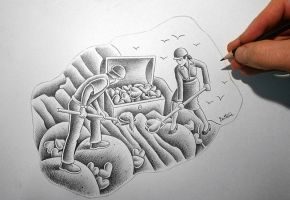 Sketch in Progress (Pencil Vs Camera - 83) by BenHeine
