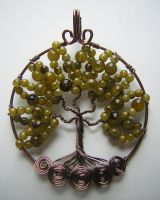 Green Tree of Life *SOLD* by RachaelsWireGarden