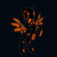 Black Guard Tron Pony by iceheartt