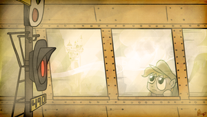 A train between Canterlot and the Great Divide by petirep
