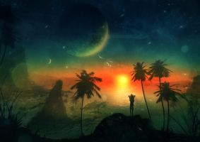 Space Beach by misi006