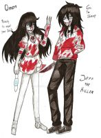 Jeff the Killer and Omen by Lukusta