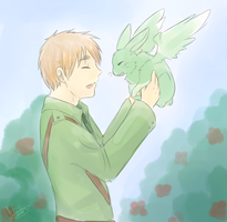 Arthur and his mint bunny doodle by Midoromi