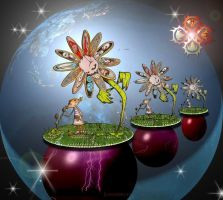 DemonWeeds in Outer Space by Queen-Of-Fables