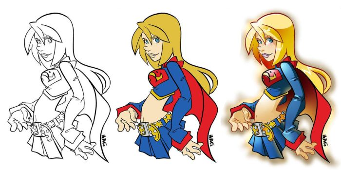 Steps-Supergirl by herms85