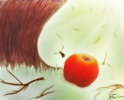Apple and Tree by Yukintou