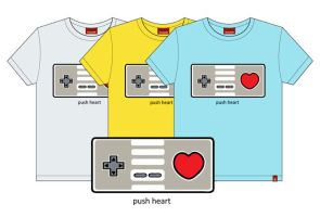 Push Heart shirt by Pirlipat