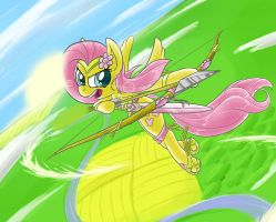 Peacewarrior Fluttershy by Animeculture
