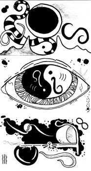 Three Abstract Doodles by NoneMayHaveHer