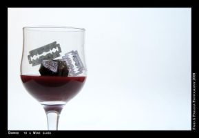 Dammed  to a Wine glass by fahap
