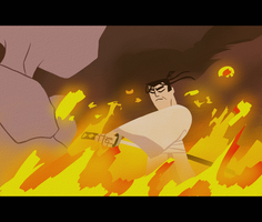 Mewtwo Samurai Jack Crossover by DYW14