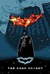 The Dark Knight 8bit by AgentMidnight