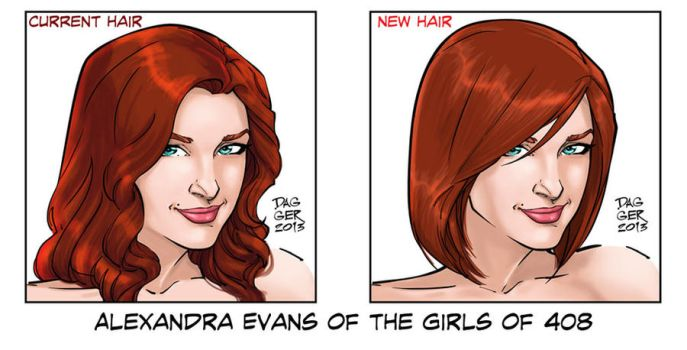 Girls of 408: Alex's New Hair by DaggerPoint
