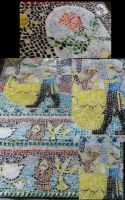 Beauty and the beast Table Mosaic by Wings2flywithice